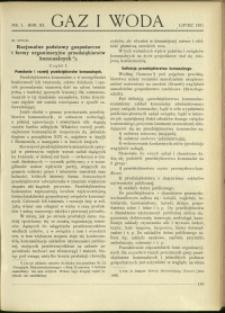 Gaz i Woda : 1931 : nr 7