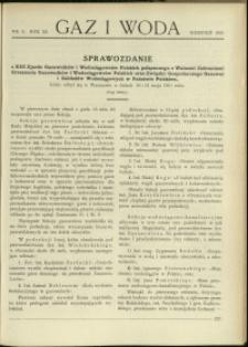 Gaz i Woda : 1931 : nr 8