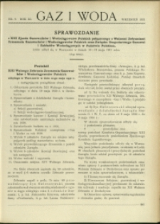 Gaz i Woda : 1931 : nr 9