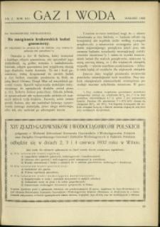 Gaz i Woda : 1932 : nr 3