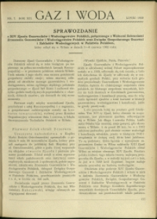 Gaz i Woda : 1932 : nr 7