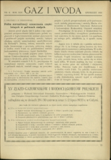 Gaz i Woda : 1933 : nr 4