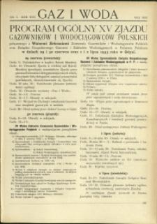 Gaz i Woda : 1933 : nr 5