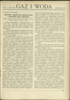 Gaz i Woda : 1933 : nr 8