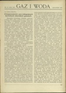 Gaz i Woda : 1933 : nr 12