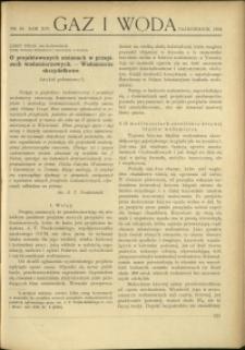 Gaz i Woda : 1934 : nr 10