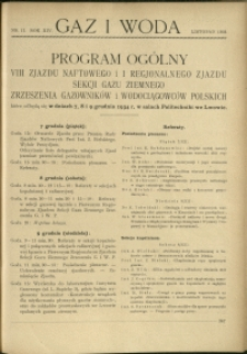 Gaz i Woda : 1934 : nr 11
