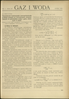 Gaz i Woda : 1935 : nr 7