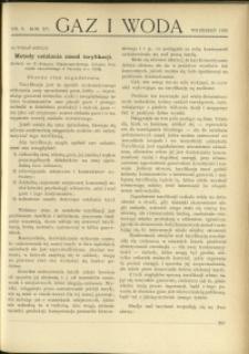 Gaz i Woda : 1935 : nr 9