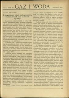 Gaz i Woda : 1935 : nr 11