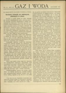 Gaz i Woda : 1935 : nr 12