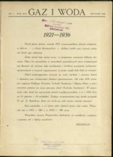 Gaz i Woda : 1936 : nr 1
