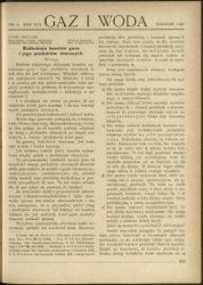 Gaz i Woda : 1936 : nr 8