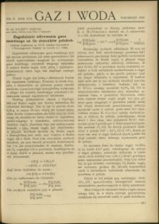 Gaz i Woda : 1936 : nr 9
