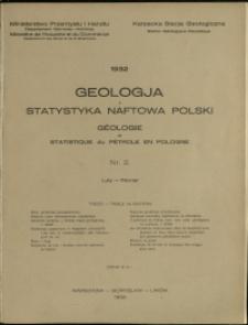 Geologja i Statystyka Naftowa Polski : 1932 : nr 2