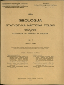 Geologja i Statystyka Naftowa Polski : 1933 : nr 7