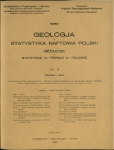 Geologja i Statystyka Naftowa Polski : 1933 : nr 8