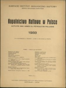 Kopalnictwo Naftowe w Polsce : 1933 r.
