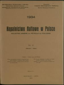 Kopalnictwo Naftowe w Polsce : 1934 : nr 3