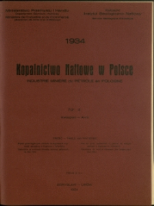 Kopalnictwo Naftowe w Polsce : 1934 : nr 4