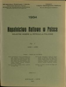 Kopalnictwo Naftowe w Polsce : 1934 : nr 7
