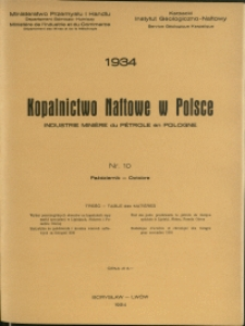 Kopalnictwo Naftowe w Polsce : 1934 : nr 10