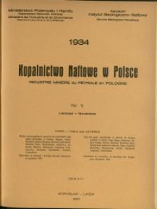 Kopalnictwo Naftowe w Polsce : 1934 : nr 11