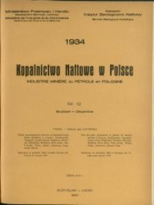 Kopalnictwo Naftowe w Polsce : 1934 : nr 12