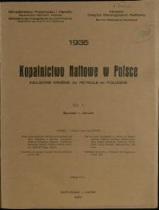 Kopalnictwo Naftowe w Polsce : 1935 : nr 1