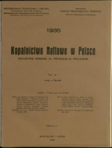 Kopalnictwo Naftowe w Polsce : 1935 : nr 2