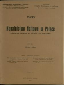 Kopalnictwo Naftowe w Polsce : 1935 : nr 3