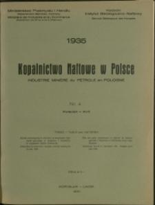 Kopalnictwo Naftowe w Polsce : 1935 : nr 4