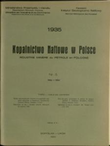 Kopalnictwo Naftowe w Polsce : 1935 : nr 5