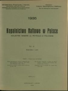Kopalnictwo Naftowe w Polsce : 1935 : nr 6