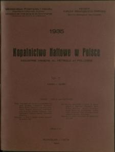 Kopalnictwo Naftowe w Polsce : 1935 : nr 7