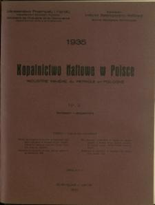 Kopalnictwo Naftowe w Polsce : 1935 : nr 9