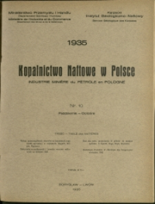 Kopalnictwo Naftowe w Polsce : 1935 : nr 10