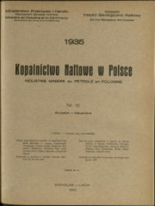 Kopalnictwo Naftowe w Polsce : 1935 : nr 12