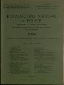 Kopalnictwo Naftowe w Polsce : 1935 : nr 12 a : Sprawozdanie Roczne