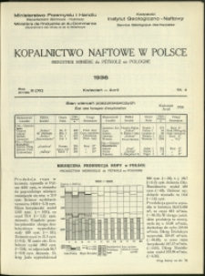 Kopalnictwo Naftowe w Polsce : 1936 : nr 4