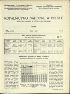 Kopalnictwo Naftowe w Polsce : 1936 : nr 5