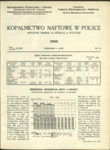 Kopalnictwo Naftowe w Polsce : 1936 : nr 6
