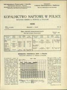 Kopalnictwo Naftowe w Polsce : 1936 : nr 8