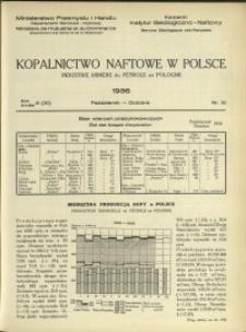 Kopalnictwo Naftowe w Polsce : 1936 : nr 10