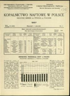 Kopalnictwo Naftowe w Polsce : 1937 : nr 1