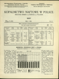 Kopalnictwo Naftowe w Polsce : 1937 : nr 5