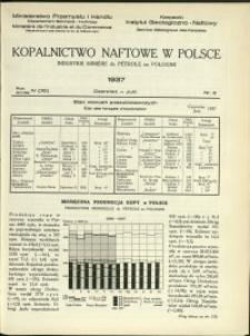 Kopalnictwo Naftowe w Polsce : 1937 : nr 6
