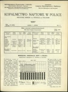 Kopalnictwo Naftowe w Polsce : 1937 : nr 7