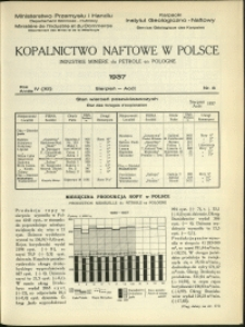 Kopalnictwo Naftowe w Polsce : 1937 : nr 8
