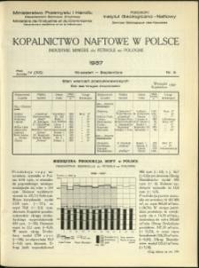 Kopalnictwo Naftowe w Polsce : 1937 : nr 9